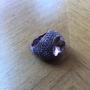 Juicy Couture Purple Stone Cocktail Ring